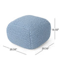 Hollis Knitted Cotton Square Pouf