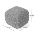 Finch Knitted Cotton Square Pouf