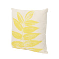 "Mark Outdoor Leaves Water Resistant 18"" Square Pillow"