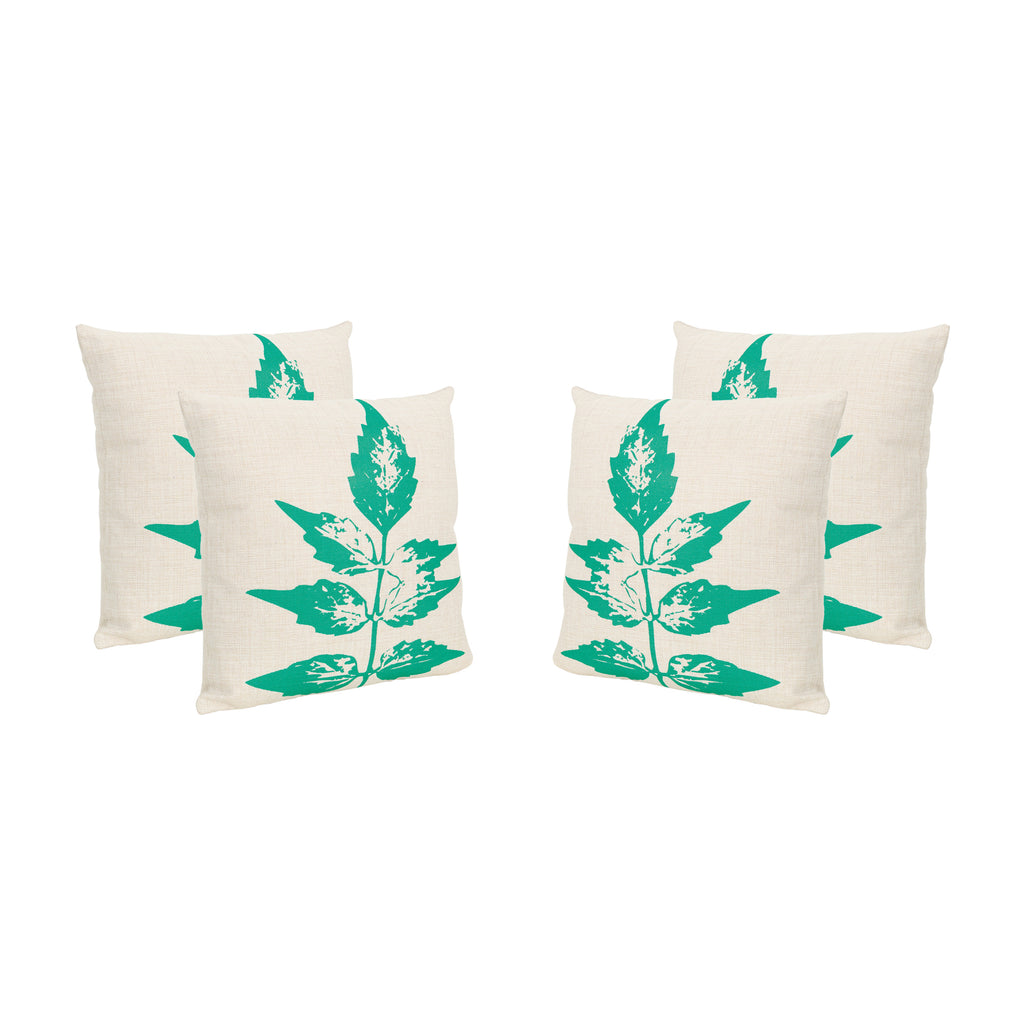 "Irene Outdoor 18"" Water Resistant Square Pillows (Set of 4)"