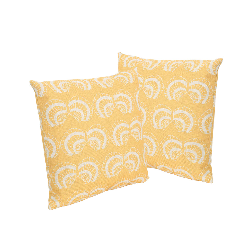 "Henry Outdoor 18"" Water Resistant Square Pillows (Set of 2)"