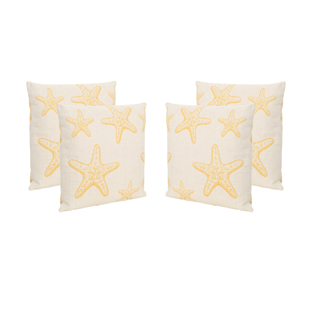 "Zona Outdoor 18"" Water Resistant Square Pillows (Set of 4)"