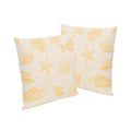 "Andria Outdoor 18"" Water Resistant Square Pillows (Set of 2)"