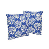 "Alisa Outdoor 18"" Water Resistant Square Pillows (Set of 2)"