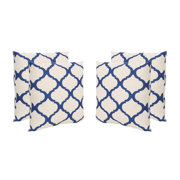 "Isia Outdoor 18"" Water Resistant Square Pillows (Set of 4)"