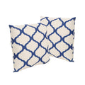 "Isia Outdoor 18"" Water Resistant Square Pillows (Set of 2)"