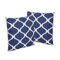 "Amelia Outdoor 18"" Water Resistant Square Pillows (Set of 2)"