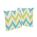 "Zora Outdoor 18"" Water Resistant Square Pillows (Set of 2)"