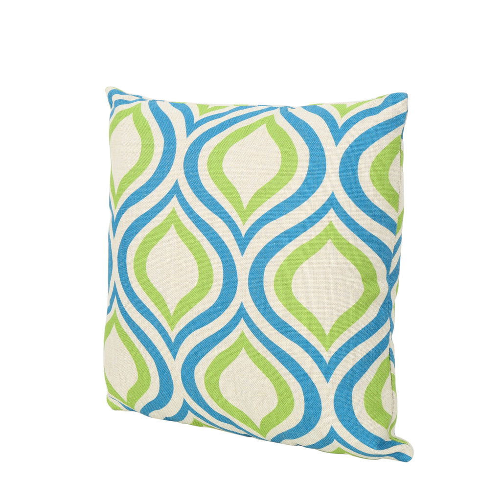 "Mabel Outdoor Ikat Water Resistant 18"" Square Pillow"