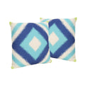 "Karen Outdoor 18"" Water Resistant Square Pillows (Set of 2)"