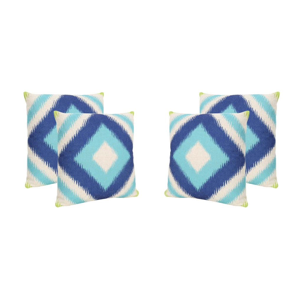 "Karen Outdoor 18"" Water Resistant Square Pillows (Set of 4)"