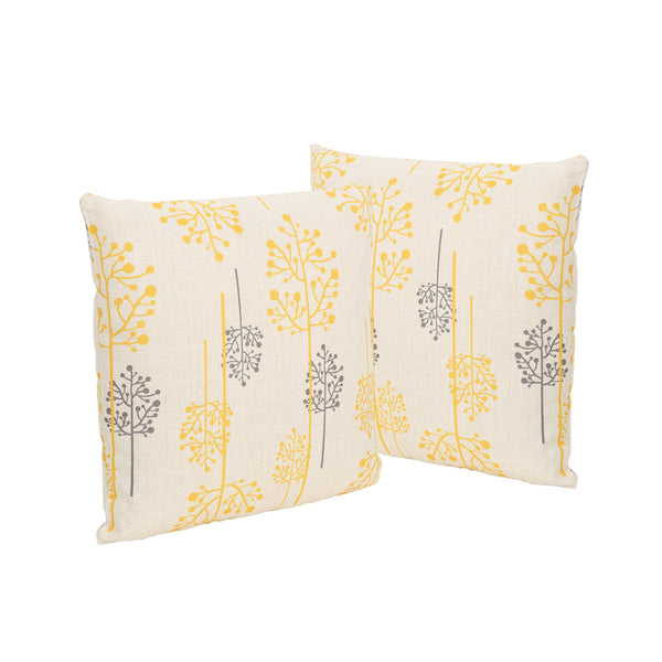 Denny Outdoor 18 Water Resistant Square Pillows Set Of 2 Le Pouf