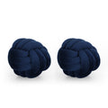 Sade Modern Soft Velvet Triple Halyard Knot Pillows (Set of 2)