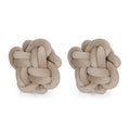 Jasmine Modern Soft Velvet Boom Hitch Knot Pillows (Set of 2)