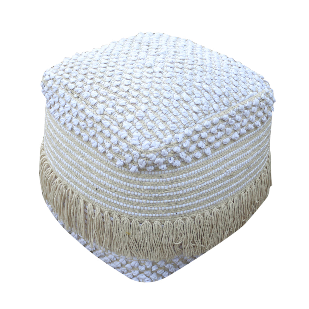 Alfie Boho Cotton Pouf
