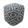 Dunn Boho Rubber and Yarn Pouf