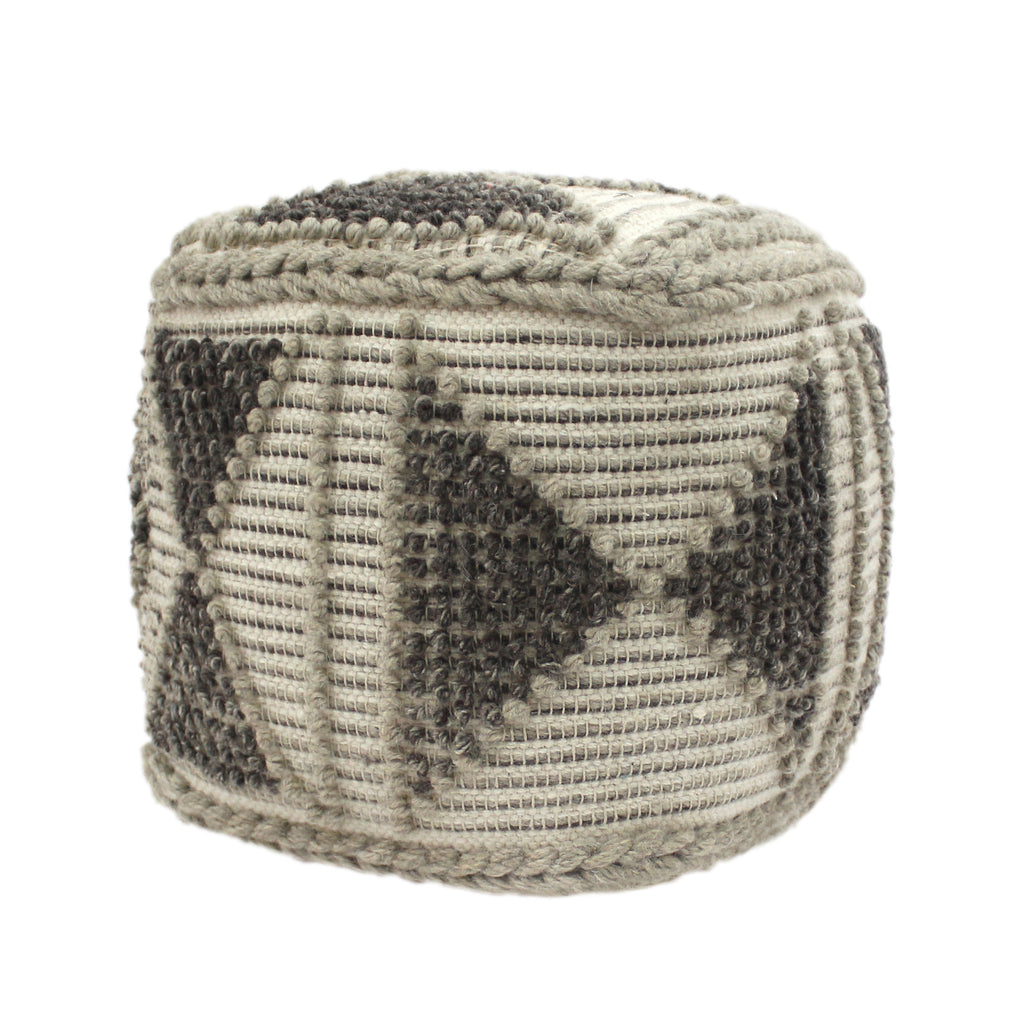 Sally Cube Wool and Cotton Pouf