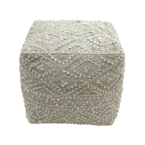Sylvia Cube Wool and Viscose Pouf