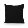 Sophia Modern Fabric Throw Pillow Cover (No Filling) (Set of 2), Black and Gray