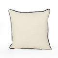 "Hailey Modern Fabric ""MR"" Throw Pillow Cover (No Filling) (Set of 2), White and Black"