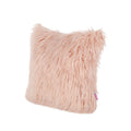 Alma Glam Faux Fur Long Hair Pillow Cover Only (Set of 2), Rose
