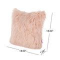 Fern Glam Faux Fur Long Hair Pillows (Set of 2), Rose