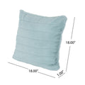 Truda Glam Faux Fur Short Hair Pillow Cover Only (Set of 2), Light Teal