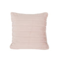 Sally Glam Faux Fur Short Hair Pillow Cover Only (Set of 2), Rose