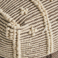 Ula Boho Wool and Cotton Ottoman Pouf