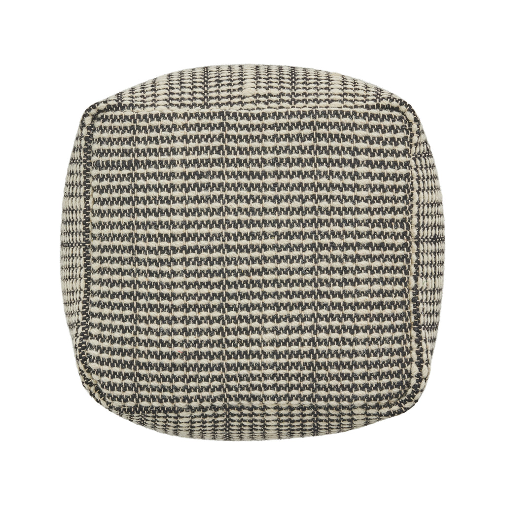 Zona Boho Wool and Cotton Ottoman Pouf