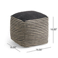 Phoebe Boho Wool and Cotton Ottoman Pouf