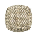 Daisy Boho Wool and Cotton Ottoman Pouf