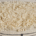 Estelle Boho Wool and Cotton Ottoman Pouf