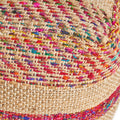 Deborah Boho Hemp Silk and Cotton Ottoman Pouf