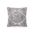 Rose Modern Fabric Throw Pillow Cover, Dark Blue and White