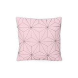 Qearl Modern Fabric Throw Pillow Cover, Light Pink