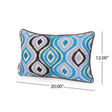Fairy Modern Fabric Throw Pillow Cover, Teal and Black