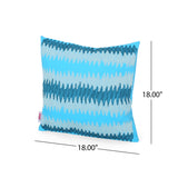 Yilia Modern Fabric Throw Pillow Cover, Teal