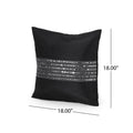 Maria Modern Fabric Throw Pillow Cover, Black