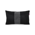 Nancy Modern Fabric Throw Pillow Cover, Black