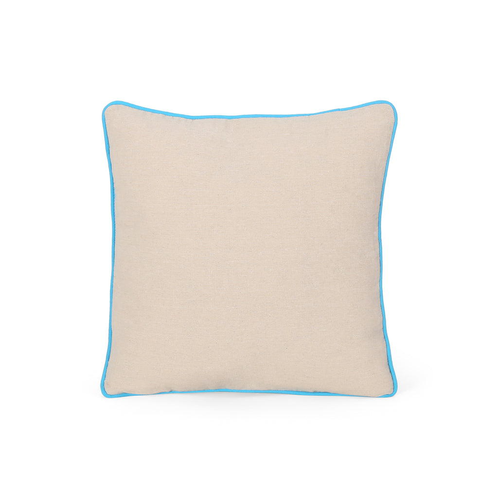 Annabelle modern fabric throw pillow cover teal and - Fabric for throw pillows ...