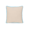 Annabelle Modern Fabric Throw Pillow Cover, Teal and Natural