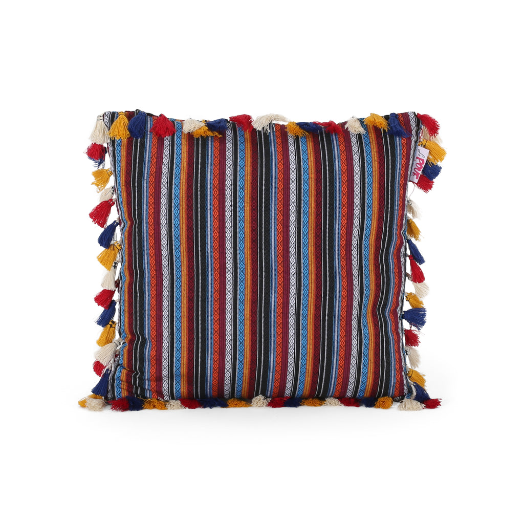 Selma Modern Fabric Throw Pillow Cover, Multicolor