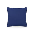Sharon Modern Fabric Throw Pillow Cover, Navy Blue and Beige