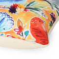 Teresa Modern Pillow Cover, Woodland Animals on Multicolor Floral