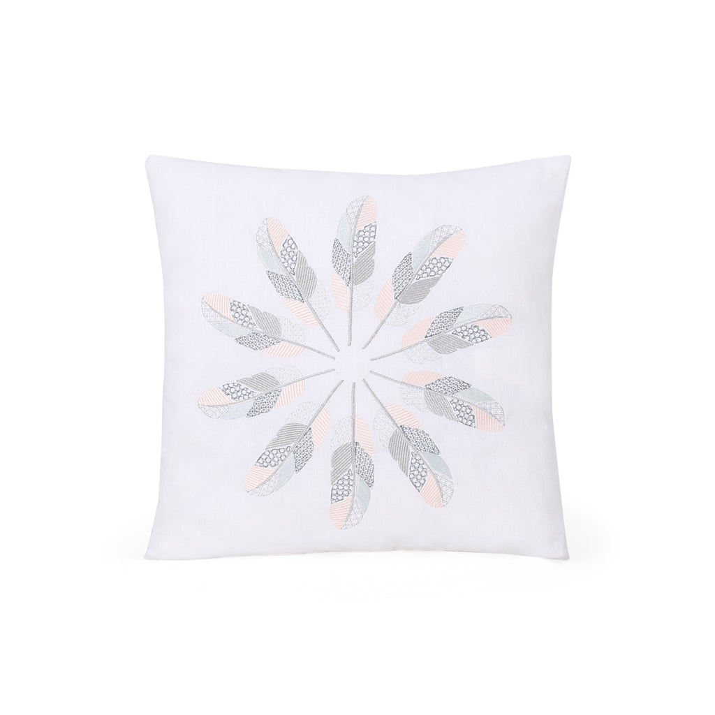 Janice Modern Fabric Throw Pillow Cover, Natural