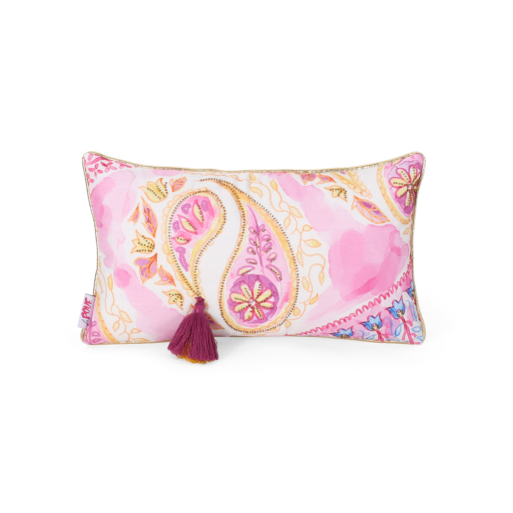 Silvia Modern Fabric Throw Pillow Cover, Pink