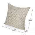 Michaela Modern Fabric Throw Pillow Cover (No Filling), Brown and Beige