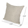 Ella Modern Fabric Throw Pillow, Brown and Beige