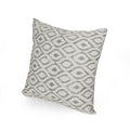 Lorelei Modern Fabric Throw Pillows (Set of 2), Gray and Natural